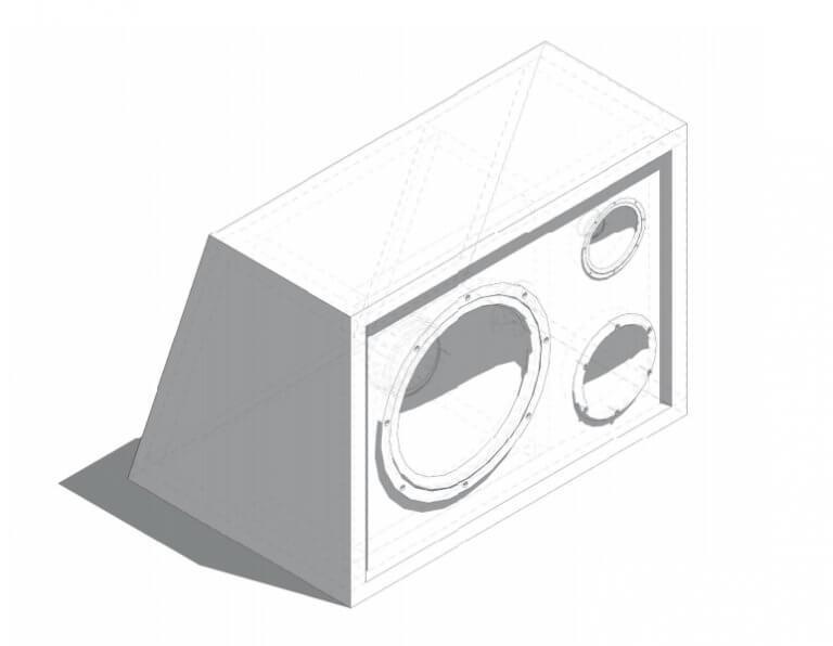 Projeto de caixa dutada para pioneer cara preta